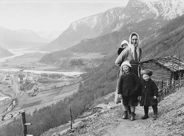 Bilde fra Guldbransdalen, 1925.